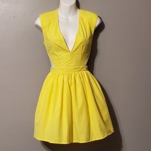 Charlotte Russe Yellow mini dress